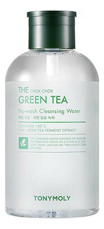 Купить Мицеллярная вода для лица с экстрактом зеленого чая The Chok Chok Green Tea No-Wash Cleansing Water: Вода 700мл, Tony Moly