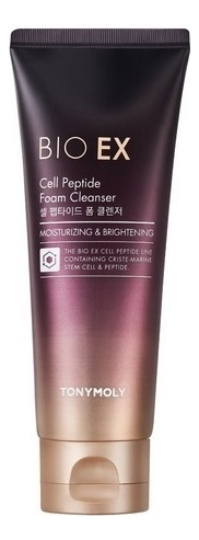 Антивозрастная пенка для умывания с пептидами Bio EX Cell Peptide Foam Cleanser 150мл недорого