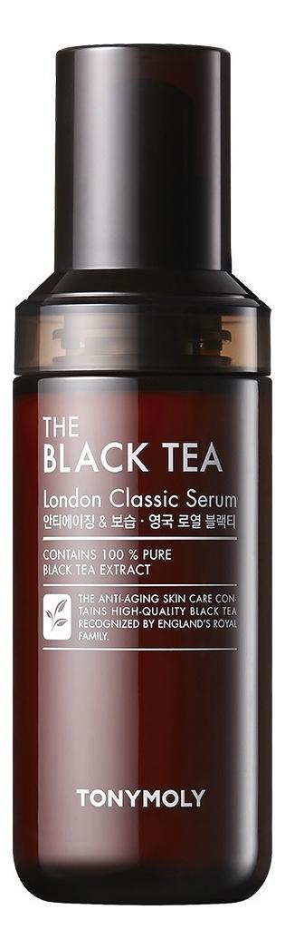 Купить Антивозрастная сыворотка для лица с экстрактом черного чая The Black Tea London Classic Serum 55мл, Tony Moly