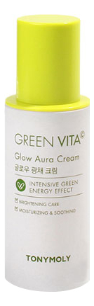 Купить Крем для лица с витамином C Green Vita Glow Aura Cream 50мл, Tony Moly
