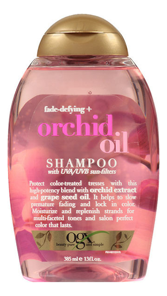 Шампунь для волос с экстрактом орхидеи и маслом из виноградных косточек Orchid Oil Shampoo 385мл кондиционер для окрашенных волос ogx с маслом орхидеи и виноградных косточек 385 мл