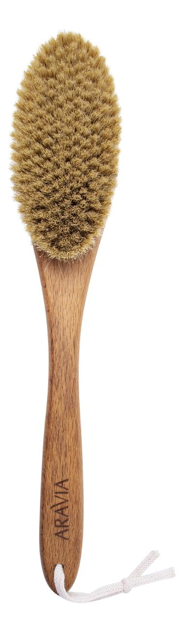 Купить Щетка для сухого массажа (натуральная щетина, мягкая), Aravia