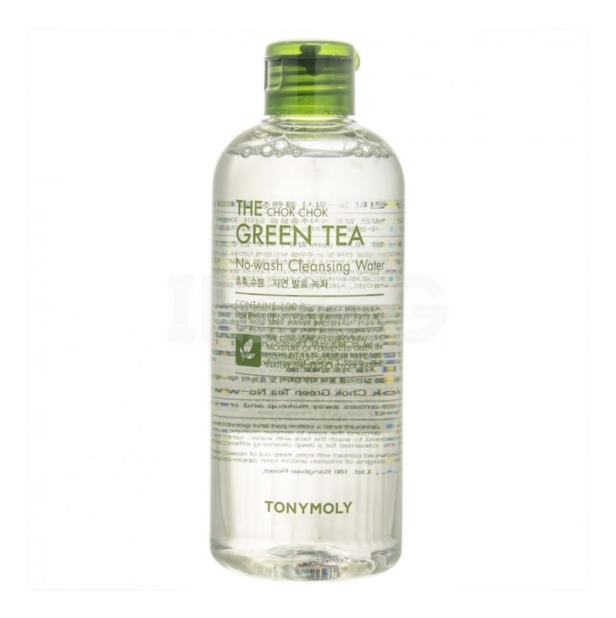 Купить Мицеллярная вода для лица с экстрактом зеленого чая The Chok Chok Green Tea No-Wash Cleansing Water: Вода 300мл, Tony Moly