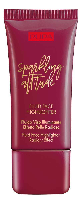 Купить Жидкий хайлайтер для лица Sparkling Attitude Face Highlighter 30мл, PUPA Milano