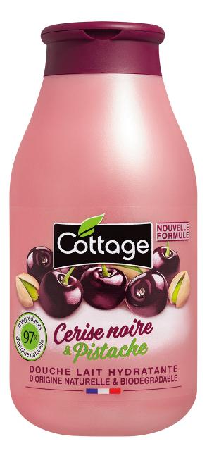 Cottage молочко для душа douche lait hydratante cerise noire & pistache 250мл - купить в Москве по выгодной цене в интернет-магазине, смотреть фото и отзывы на Randewoo.ru