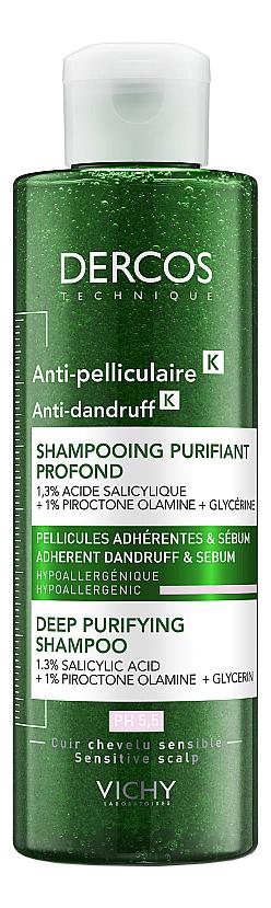 Купить Интенсивный шампунь уход против перхоти для нормальных и жирных волос Dercos Anti-Dandruff: Шампунь 250мл, Vichy