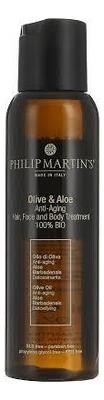 Масло для волос Olive & Aloe Anti-Aging Hair Treatment 100% Bio: Масло 100мл