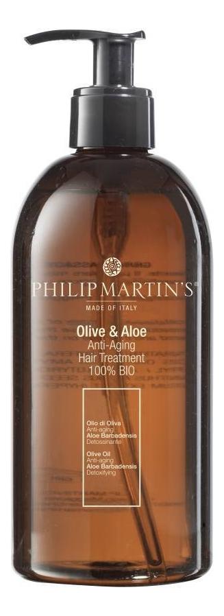Масло для волос Olive & Aloe Anti-Aging Hair Treatment 100% Bio: Масло 500мл
