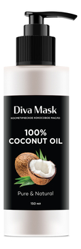 Масло кокосовое для волос, лица и тела Coconut Oil 100% 150мл