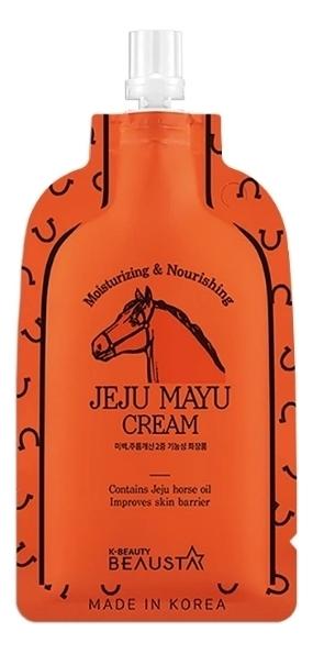 Интенсивный питательный крем для лица с лошадиным маслом Jeju Mayu Cream: Крем 15мл