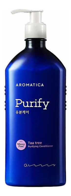 Купить Кондиционер для волос с маслом чайного дерева Purify Tea Tree Conditioner: Кондиционер 400мл, AROMATICA