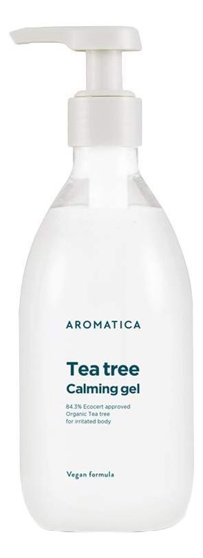 Купить Противовоспалительный гель для лица и тела c маслом чайного дерева Tea Tree Calming Gel: Гель 300мл, AROMATICA