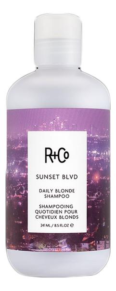 Фото - Шампунь для светлых волос Sunset Blvd Daily Blonde Shampoo: Шампунь 241мл текстурирующий шампунь r co cactus texturizing shampoo 177 мл