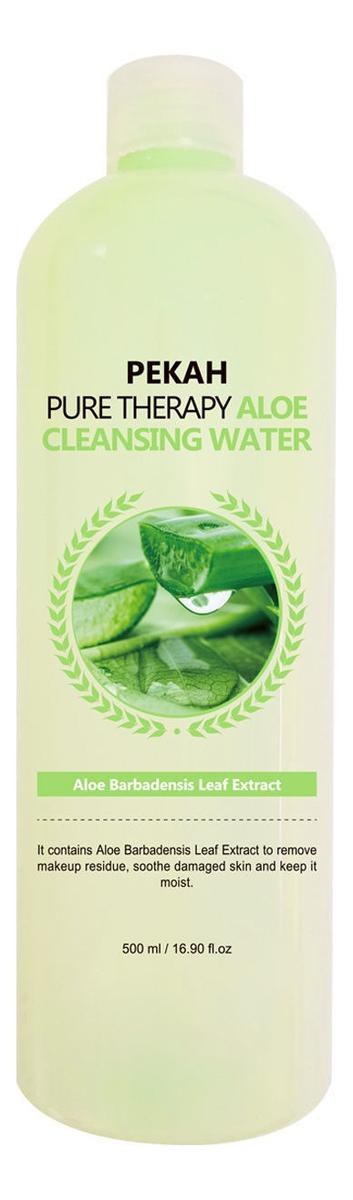 Очищающая мицеллярная вода для лица с экстрактом алоэ Pure Therapy Aloe Cleansing Water 500мл недорого