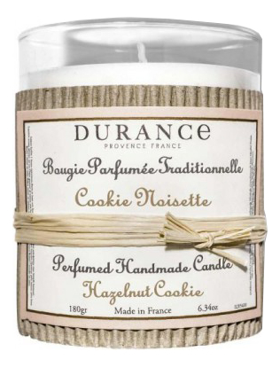Купить Ароматическая свеча Perfumed Handmade Candle Hazelnut Cookie 180г (ореховое печенье с шоколадом), Durance