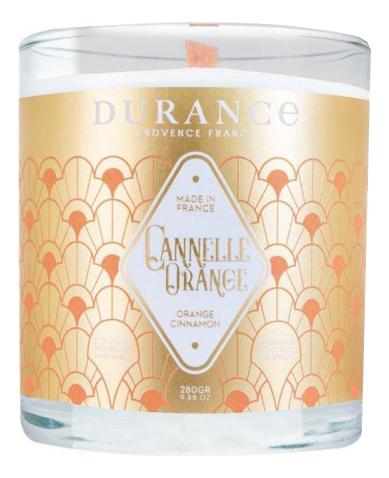 Купить Ароматическая свеча Perfumed Natural Candle Orange Cinnamon (апельсин и корица): Свеча 280г, Durance