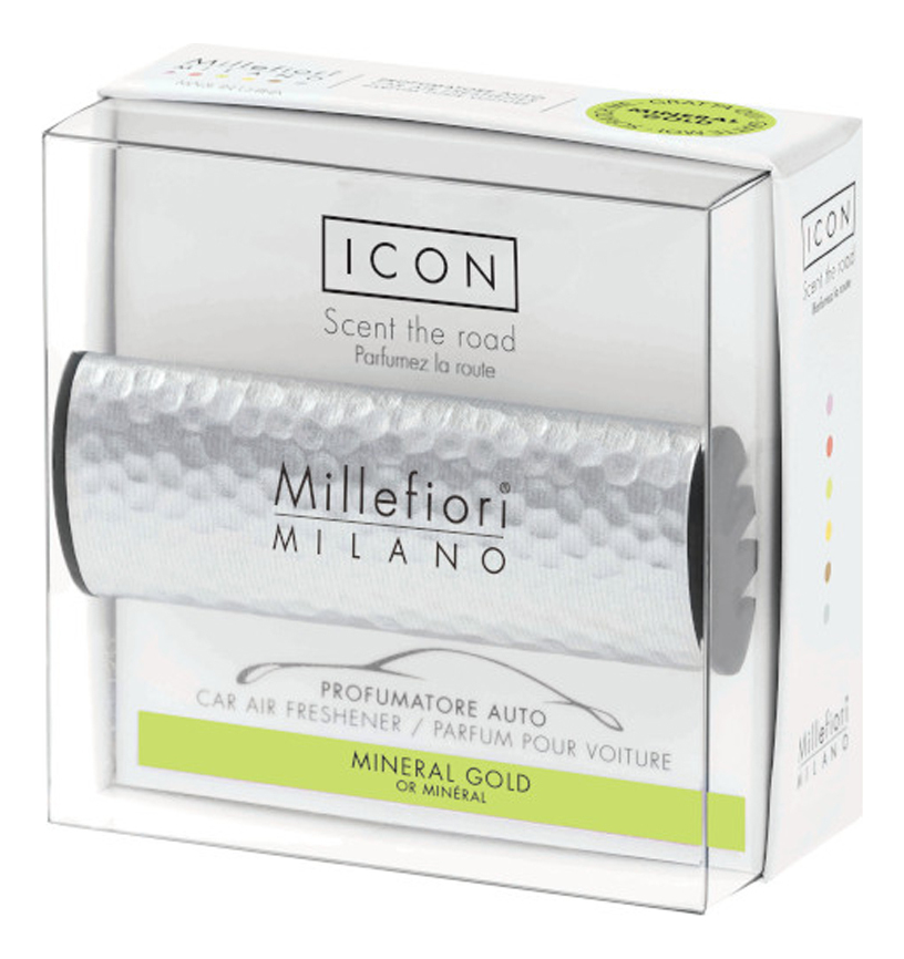 Купить Ароматизатор для автомобиля Тени металла Icon Mineral Gold (золотой минерал), Millefiori Milano