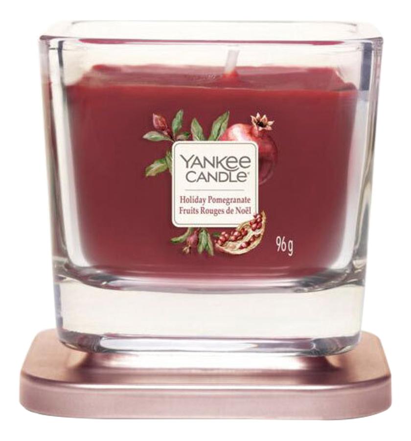 Купить Ароматическая свеча Holiday Pomegranate: Свеча 96г, Yankee Candle