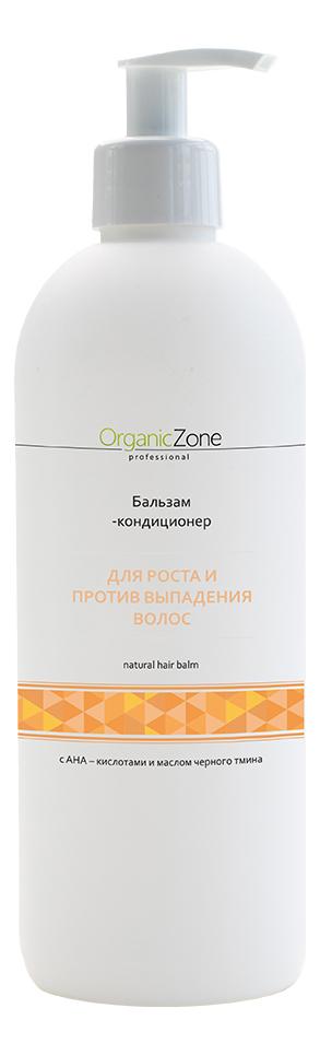 Купить Бальзам-кондиционер для волос с AHA-кислотами Для роста и против выпадения волос Natural Hair Balm: Бальзам-кондиционер 500мл, OrganicZone