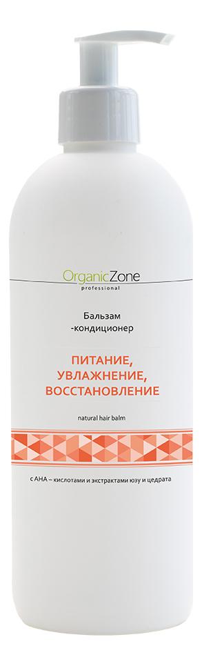 Купить Бальзам-кондиционер для волос с AHA-кислотами Питание, увлажнение, восстановление Natural Hair Balm: Бальзам-кондиционер 500мл, OrganicZone