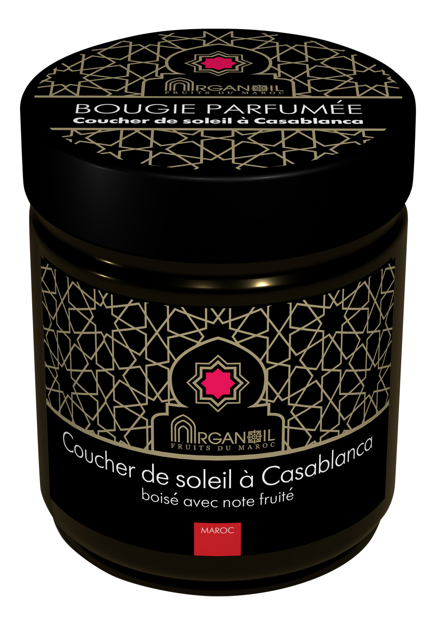 Ароматическая свеча На закате в Касабланке Bougie Parfumee Сoucher De Soleil A Casablanca (древесно-фруктовый): Свеча 55г, ARGANOIL  - Купить
