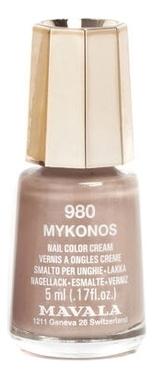 Лак для ногтей Nail Color Cream 5мл: 980 Mykonos лак для ногтей nail color cream 5мл 240 jasper