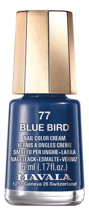 Лак для ногтей Nail Color Cream 5мл: 77 Blue Bird лак для ногтей nail color cream 5мл 240 jasper