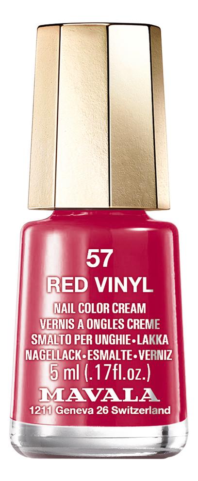 Лак для ногтей Nail Color Cream 5мл: 57 Red Vinyl лак для ногтей nail color cream 5мл 240 jasper