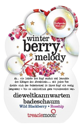 Купить Пена для ванны Ягодный смузи Winter Berry Melody Badeschaum: Пена 80мл, Treaclemoon