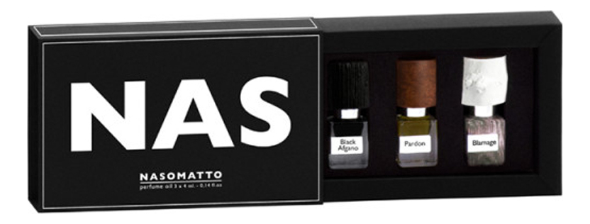 Купить Nas: духи 3*4мл (Black Afgano + Pardon + Blamage), Nasomatto