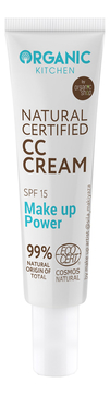 CC крем для лица Organic Kitchen Natural Certified Make Up Power SPF15 30мл