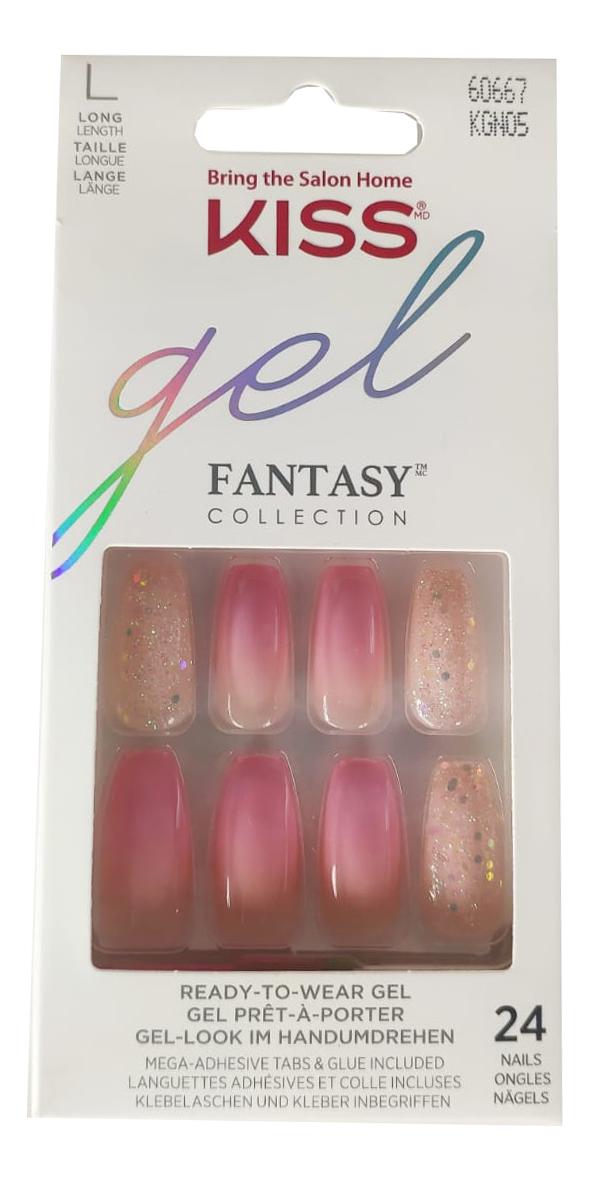 Фото - Накладные ногти Невинный флирт Gel Fantasy KGN05C 24шт (с клеем, максимальной длины) накладные ногти калейдоскоп glam fantasy kgf05c 28шт с клеем максимальной длины