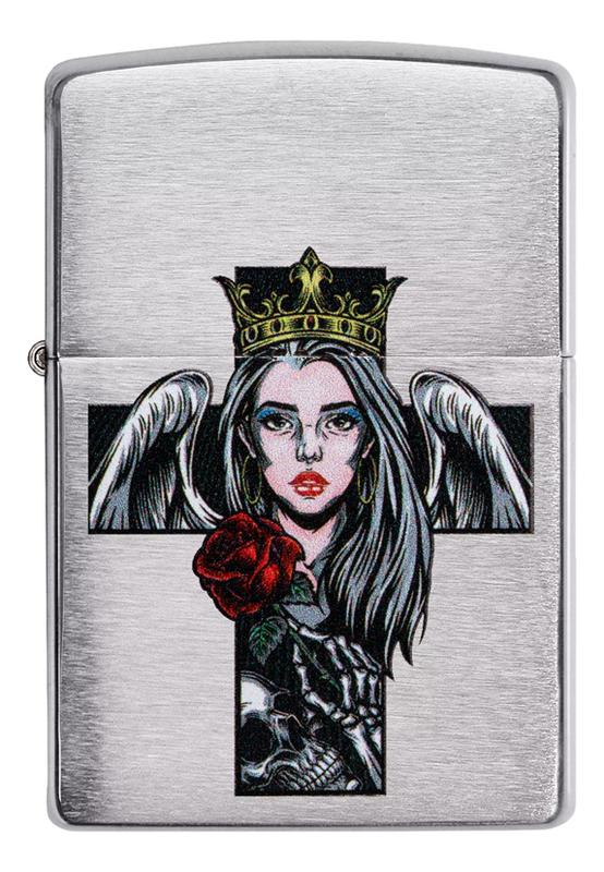 Зажигалка бензиновая Cross Queen Skull Design 49262