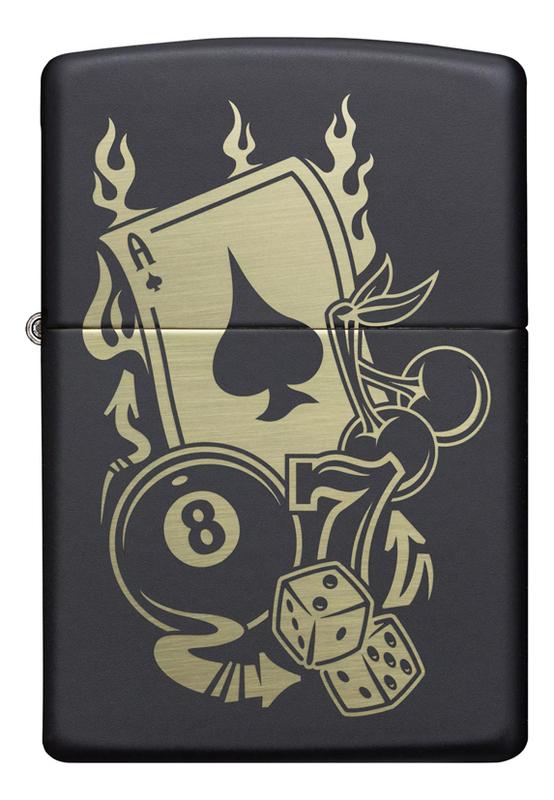 Купить Зажигалка бензиновая Gambling Design 49257, Zippo