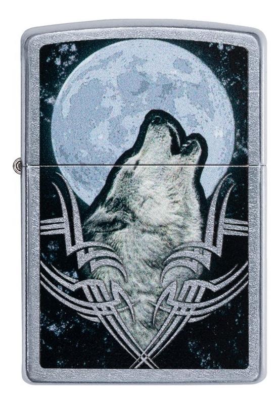 Зажигалка бензиновая Howling Wolf Design 49261