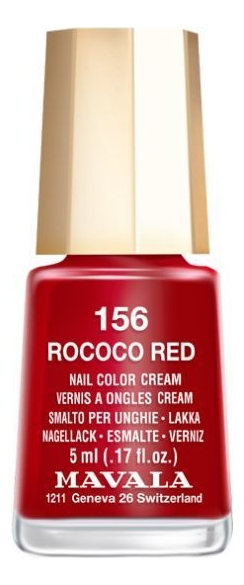 Купить Лак для ногтей Nail Color Cream 5мл: 156 Rococo Red, MAVALA