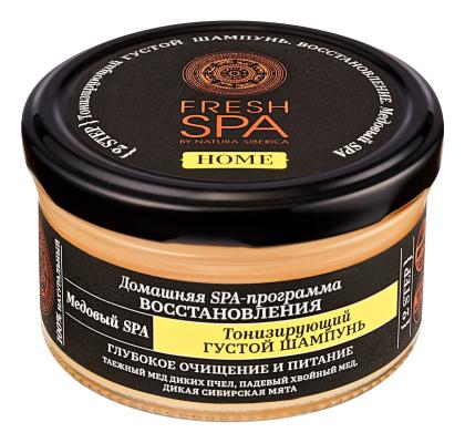 Купить Тонизирующий густой шампунь для волос Медовый Fresh Spa Home 170мл, Natura Siberica