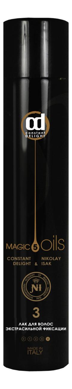 Купить Лак для волос экстрасильной фиксации 5 Magic Oils No3 400мл (без запаха), Constant Delight