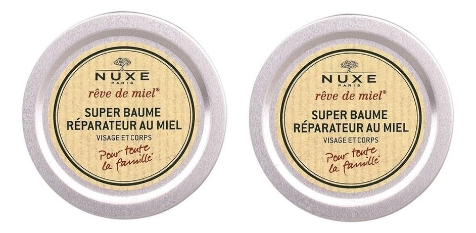 Купить Восстанавливающий бальзам для лица и тела с медом Reve De Miel Super Baume Reparateur Au Miel: Бальзам 2*40мл, NUXE