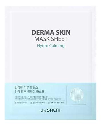 Купить Тканевая маска для лица Derma Skin Mask Sheet Hydro Calming 28г, The Saem