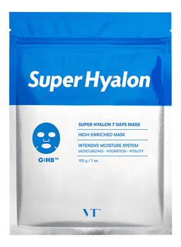 Купить Увлажняющая ампульная маска для лица с гиалуроновой кислотой Super Hyalon 7 Days Mask: Маска 7шт, VT Cosmetics