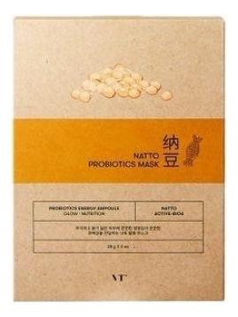 Фото - Тканевая маска для лица с комплексом пробиотиков и натто Natto Probiotics Mask: Маска 28г тканевая маска для лица очищающий уголь skin naturals 28г водоросли