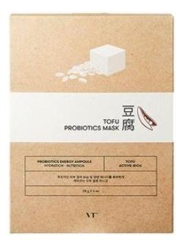 Фото - Тканевая маска для лица с комплексом пробиотиков Tofu Probiotics Mask: Маска 28г тканевая маска для лица очищающий уголь skin naturals 28г водоросли