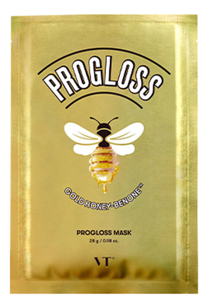 Фото - Тканевая маска для лица с прополисом и маточным молочком Progloss Mask: Маска 28г тканевая маска для лица очищающий уголь skin naturals 28г водоросли