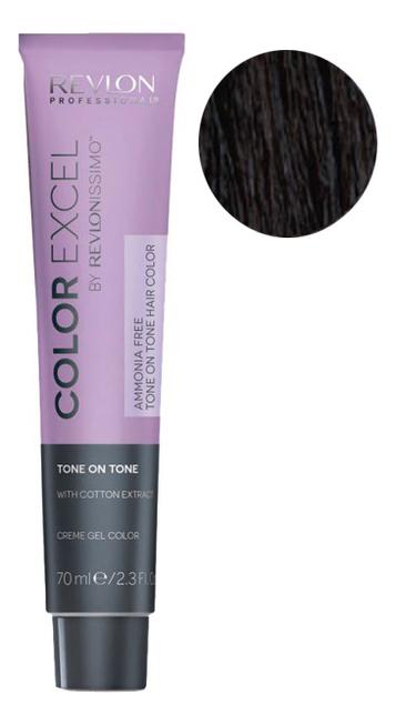 Фото - Крем-гель краска для волос Color Excel by Revlonissimo 70мл: 4.11 Темный интенсивный пепельный крем гель краска для волос color excel by revlonissimo 70мл 6 3 светлый золотисто ореховый