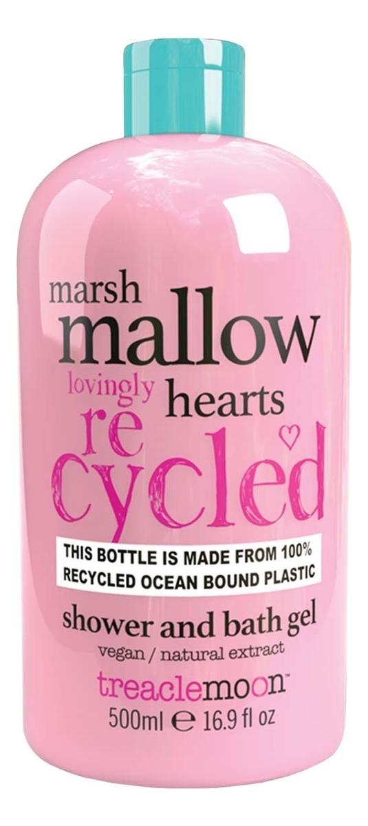 Гель для душа Маршмеллоу Marshmallow Hearts Bath & Shower Gel: Гель 500мл зефир и пастила corniche маршмеллоу большие mega marshmallow бело розовые 300 г