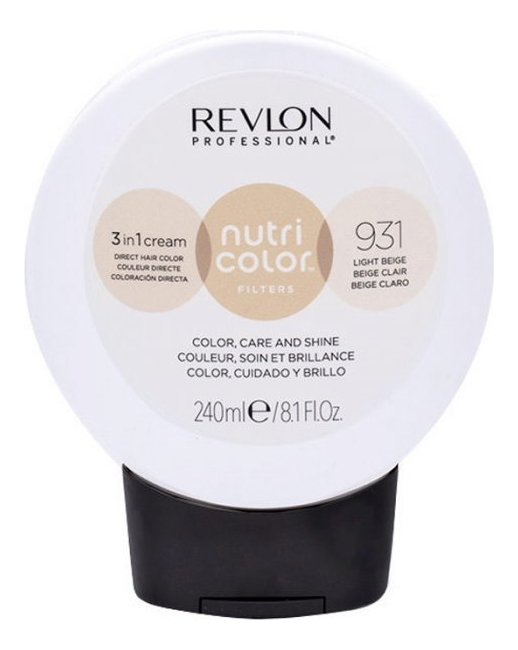 Купить Тонирующий крем-бальзам без аммиака Nutri Color Filters 3 In 1 Cream 931 Light Beige: Крем-бальзам 240мл, Revlon Professional
