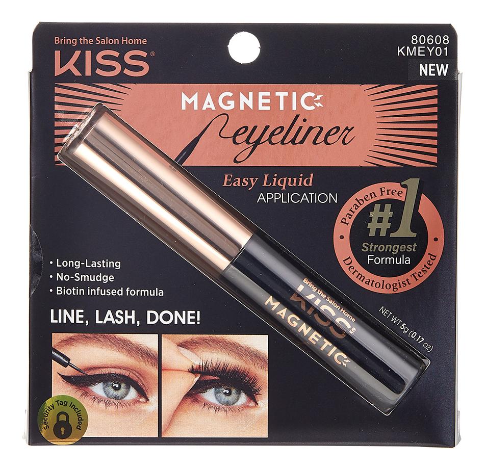Купить Магнитная жидкая подводка для ресниц Magnetic Eyeliner 3мл KMEY01, Kiss