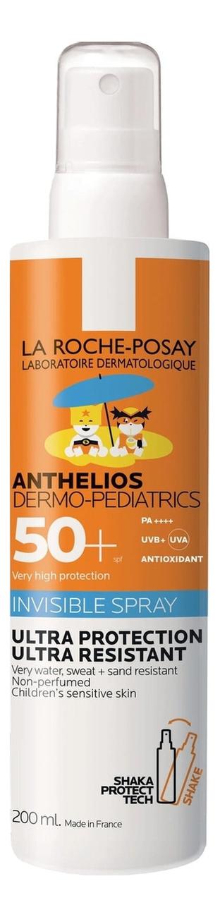 Фото - Солнцезащитный невидимый спрей для лица и тела Anthelios Dermo-Pediatrics SPF 50+ 200мл la roche posay anthelios солнцезащитный невидимый спрей spf 50 200 мл