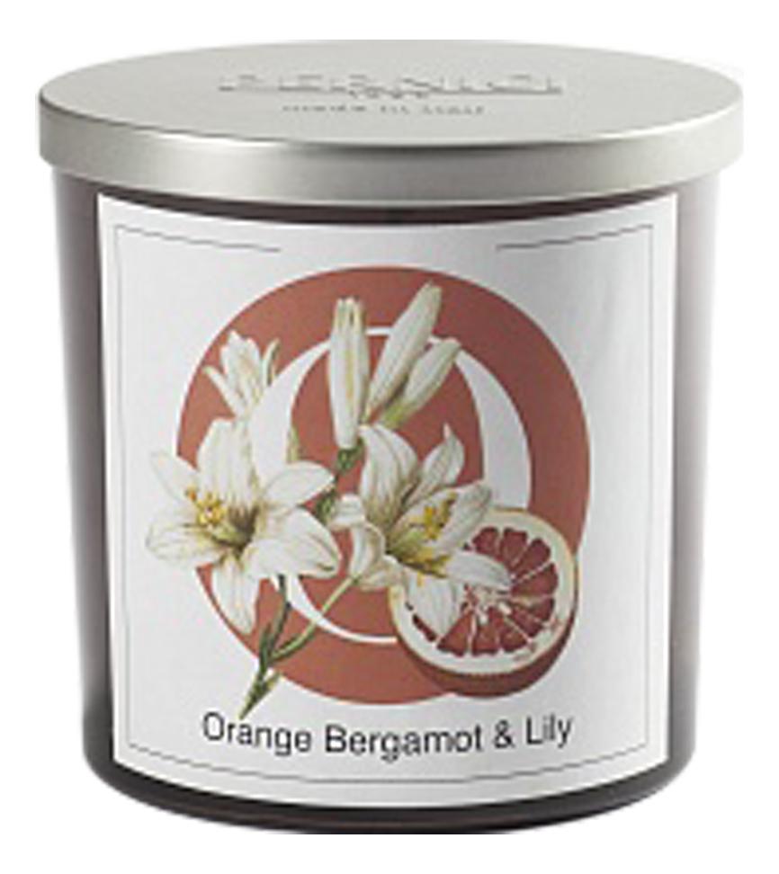 Купить Ароматическая свеча Апельсин бергамот и лилия: свеча 350г, Pernici